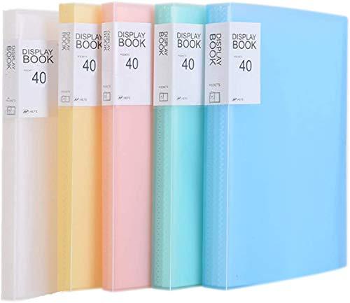 TUKA-i-AKUT [5x] PP Portalistino A5, un totale 200 Tasche Trasparenti, traslucida copertina. Presentazione e archiviazione di documenti, per ufficio, casa, scuola. Set di 5 in 5 colori, TKD8038-5x