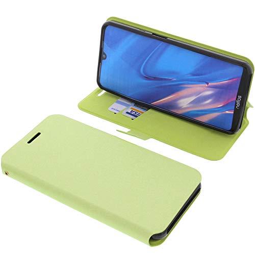 foto-kontor Tasche für TP-Link Neffos C9 Max Book Style grün Schutz Hülle Buch