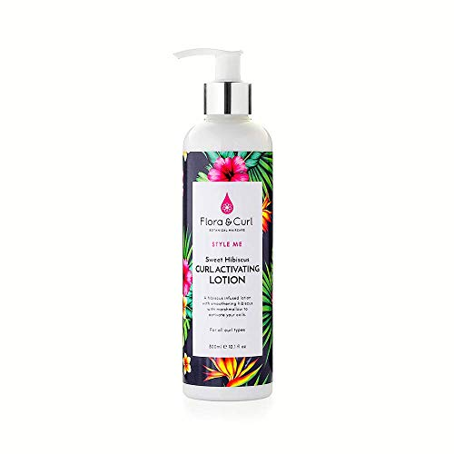 Flora & Curl Sweet Hibiscus Curl Activating Lotion for Kinky and Curly Natural Hair 300ml
