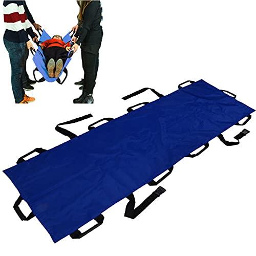 Opvouwbare Oxford-stoffen brancard, draagbaar Oxford-doek met 10 handgrepen Huishoudelijke brancard Opvouwbaar patiëntenvervoer Zachte brancard voor Redding EHBO, huishouden