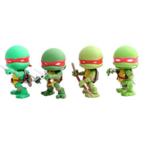 Les Tortues Ninja - Pack 4 figurines Original Comic 8 cm