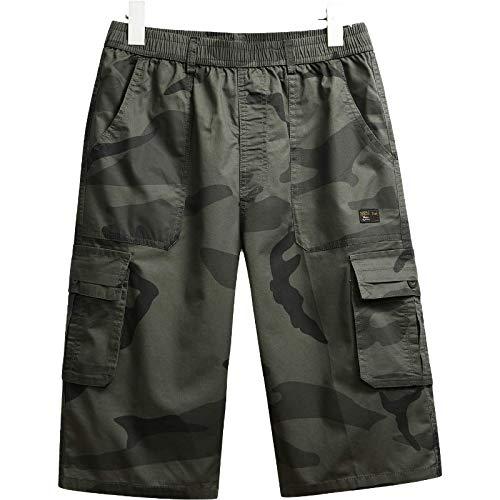 Pantalones Cortos de Camuflaje Cargo para Hombre, Pantalones Cortos Holgados de Verano de Gran tamaño, cómodos, Transpirables, para Senderismo al Aire Libre, Escalada, Pantalones Cortos para 4XL