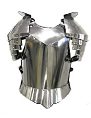 Cuirass Overall Length: 19 InchesCuirass Width: 13.25 InchesPauldron Length: 16.75 InchesPauldron Width: 10.50 InchesSteel Gauge: 18G Includes: 2 Pauldron (Right and Left) Cuirass Front & Back Fitment: Adjustable Leather Straps Designed Edges Fit...