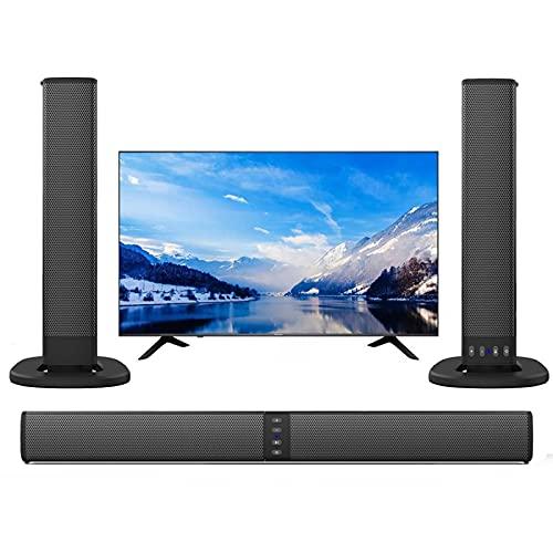 YaGFeng Sound Bar con Subwoofer, Barra del Suono dei Bassi Profondi, Sistema di Altoparlanti Surround Home a 2.1 Canali con Bluetooth 5.0 Wireless, Adatto per Giochi per PC