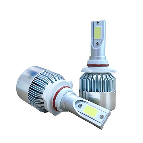 Wckxy Llevó la Linterna de los bulbos, 2 Piezas de C9 9005 18W 1800LM 6000K IP68 a Prueba de Agua del Coche LED Linterna Auto con 2 Bombillas LED, DC 9-36V (Color : White Light)