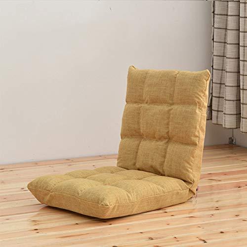 ZAIPP vloerstoel met verstelbare rugleuning, half opvouwbare gewatteerde speelbank, vijf-slecht verzoek ligstoel slaapbank bedbank ligstoel ligstoel ligstoel