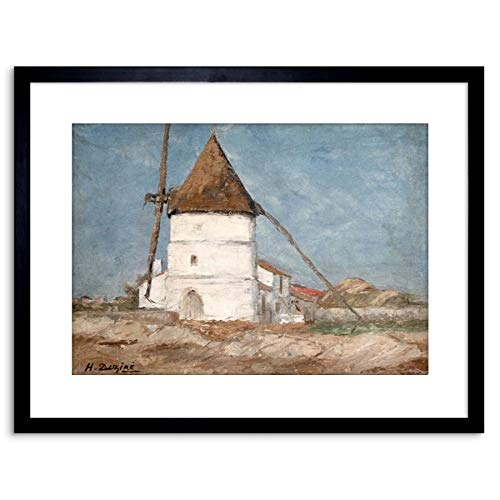 Painting Henry Dezire Moulin A Vent ILE D'OLERON Annees Framed Art F97X12079