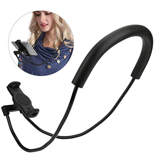 Topiky Lazy Handyhalter, 360 ° drehbarer Handy-Hängehals Flexible Lazy Tablet-Ständerhalterung mit Mehrfachfunktion für Desktop-Bettwagen