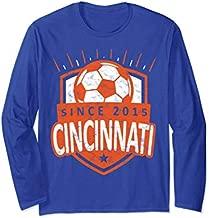 Vintage Cincinnati Soccer T-Shirt Sport Fan Gift Idea FC 513 Long Sleeve T-Shirt
