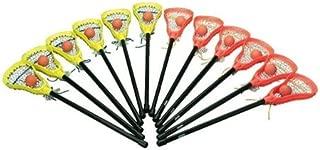 FLAGHOUSE - Mini Lacrosse Game Set - Mini-toss Soft Rubber Balls Included - Two Teams - 12 Sticks & Balls