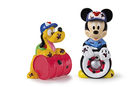 Mickey Mouse- Mickey & Pluto, Set 2 Figuras de Baño, 14 cm (Propio 182790)