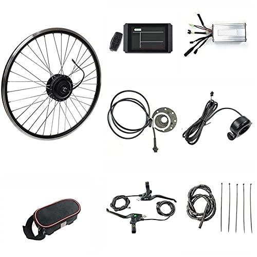 SKYWPOJU Kit di conversione bici elettronica da 36 V 500 W, 20'/ 24' / 26'/ 27,5' / 28'/ 29' / 700C Kit motore di conversione bici elettrica da moto con ruota posteriore E-bike Ciclismo con display LC