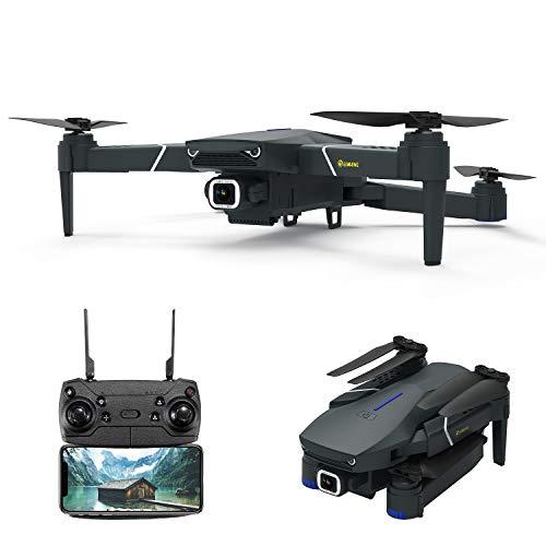 EACHINE E520 Drohne mit 4k HD Kamera,2.4Ghz WiFi FPV Live Übertragung,250M Reichweite,120°Weitwinkel,App-Steuerung,16 Minuten Flugzeit,RC Quadrocopter Faltdrohne für Anfänger …