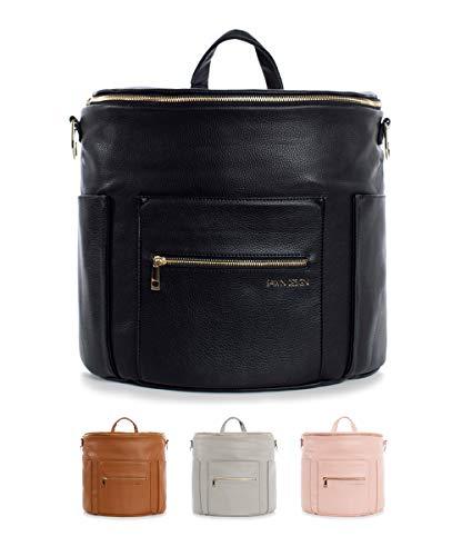 Fawn Design Mini backpack For Women - Vegan Faux Leather - 2019 Ed. - Black