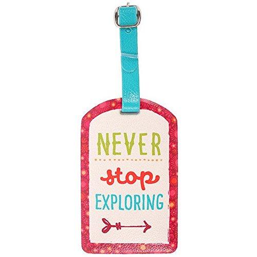 Something Different - Identificador de equipaje con texto Never Stop Exploring