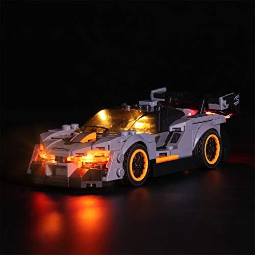 Seasy Juego de iluminación para coche Lego 75892 Speed Champions McLaren Senna, juego de iluminación LED compatible con Lego 75892 (sin set Lego)