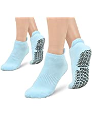 Yoga-sokken, 2 paar antislip pilates, yoga-sokken voor dames en heren, ideaal voor yoga, pilates, barre, ballet, fitness, barefoot training, trampoline