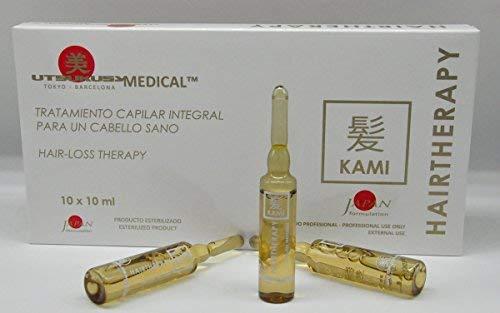 Kami – Haarwuchs/Kopfhaut Therapie – professionelles, steriles Microneedling Serum für Dermapen o. Dermaroller - stoppt den Haarausfall u. regt das Haarwachstum an - 10 Wirkstoffampullen a 10 ml