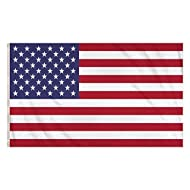 1 x USA flag with two metal eyelets. High quality with a double stitched seam Perfect for decorating or to show your support Size: 5ft x 3ft Material: Polyester