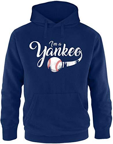 EZYshirt® I`am a Yankee Baseball Shirt Pullover Mannen   Hoodie