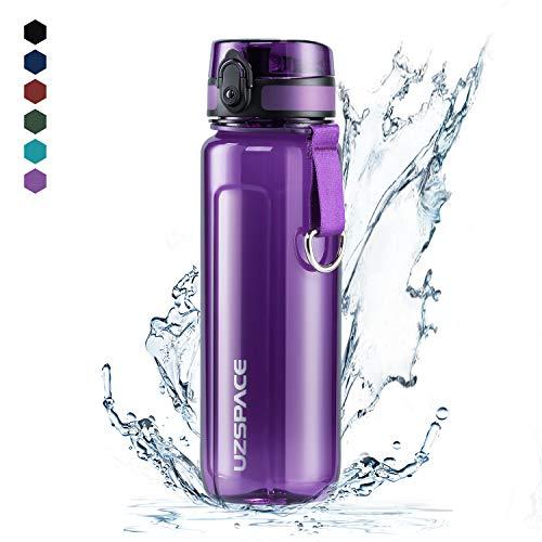UZSPACE Trinkflasche Tritan Wasserflasche - 500ml-750ml-950ml - BPA-frei - Ideale Sportflasche - Schnelle Wasserdurchfluss - Sport, Wasser, Fahrrad