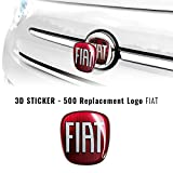 AMS 32011 - Adhesivo para Fiat 3D de Repuesto con Logotipo Delantero + Trasero para 500