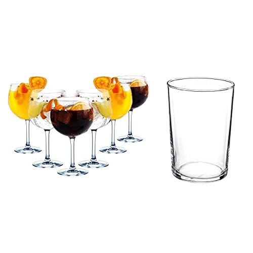 Set 6 Copas para Combinados, Juegos de cristalería, 70cl, 6 Vasos de Sidra, 6 X 50 cl