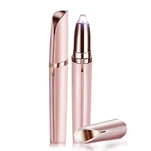Eyebrow Trimmer for Women, Eyebrow Hair Remover Epilator, Electric Eye Brows Hair Removal, Nose and Brows Shaver Razor with LED Light