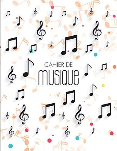 Cahier De Musique: Carnet De Partitions   Seyes Grands Carreaux et Portées   12 Portées par Page   Format A4   Cahier de Musique et Chant