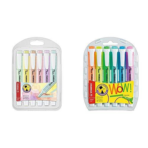 Stabilo Swing Cool Pastel - Astuccio con 6 Evidenziatori Colori Assortiti & swing cool Evidenziatore colori assortiti - Astuccio da 6