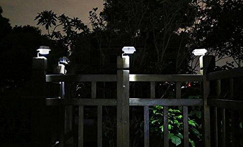 FALOVE 6 Pack Deal - Outdoor Solar Gutter Led Lights - White Sun Power Smart Night Utility Security Light