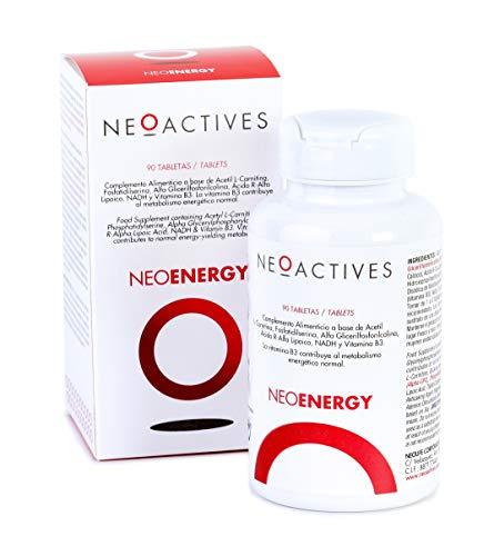 Neoenergy | Complemento Alimenticio Vitamínico con Acetil L-Carnitina, Alfa-GPC, Fosfatidilserina, Ácido R-Alfa Lipoico, Vitamina B3 y más ingredientes naturales | Ayuda a combatir el cansancio (90)