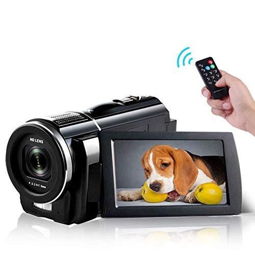 Videocamera Videocamere Full HD 1080P 30FPS 24.0 MP Videocamere Vlogging IR Visione notturna 3.0 pollici Schermo IPS Fotocamera Digitale Zoom 16X con Telecomando