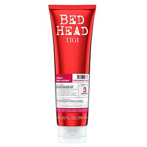 Bedhead - Shampooing Urban Antidotes Resurrection - Parfait pour les cheveux faibles et cassants ayant besoin d'une intervention d'urgence - 250 ml
