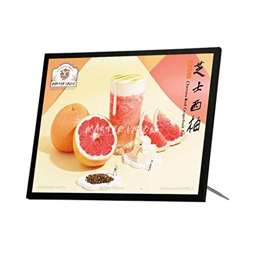 billboard Desktop-Menü-Display, Signatur-Theke des Milchtees, beleuchtete Bestellpreisliste, LED-Lichtbox-Werbetafel, Mehrzweck, 30 * 50 cm