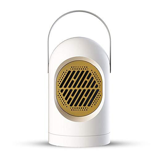 Mini Heizlüfter Energiesparend - Thermostat Heizung Elektrisch, Heizlüfter Klein Tragbar Mobile Heizung, Überhitzungsschutz Sicheres Flammhemmendes Material, 400W (Weiß)