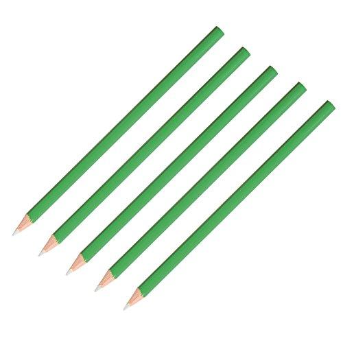 Bartl 5er Set Griffel für Schiefertafeln, Kreidetafeln, feiner Stift, Kreidestift, Minenfarbe: Weiß, Schaftfarbe kann variieren