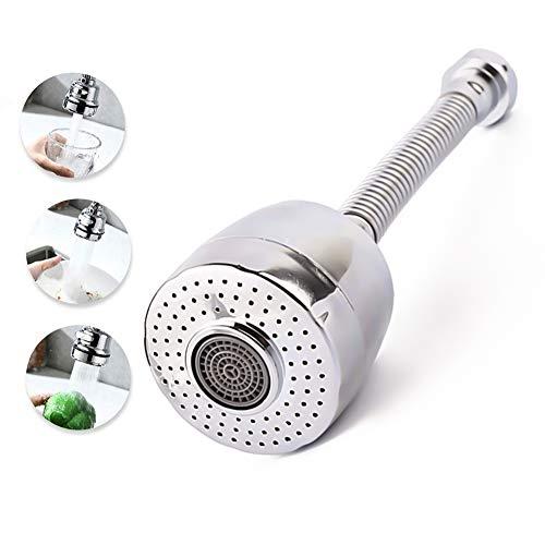 Regulador de chorro de extensión de grifo de 360 grados/extensión de 17 cm, compatible con diámetro de grifo inferior o igual a 22 mm
