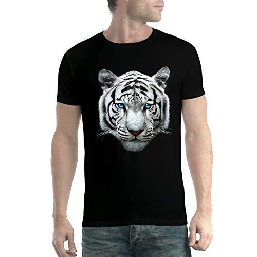 Tigre Blanco Bengala Hombre Camiseta Negro M