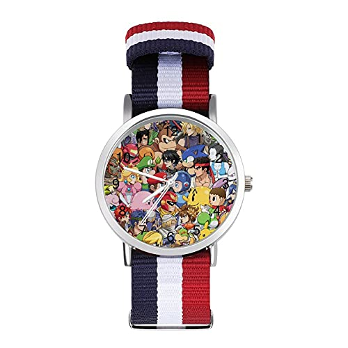 Zelda Rockman Kirby Pikachu - Reloj de ocio para adultos, moderno, bonito y personalizado con carcasa de aleación casual para hombres y mujeres