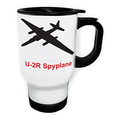 INNOGLEN u-2r_spyplane Fire Jet Plane Pilot Jet Vintage Tasse de Voyage Thermique Blanche 14oz 400ml c650tw