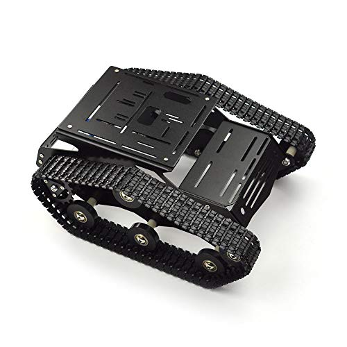 DFROBOT Robot Tank Platform Tracked Chassis Kit for DIY Smart Robot Car Lovers and Arduino Fans - Aluminium Alloy Base, with 12V 160RPM Motors