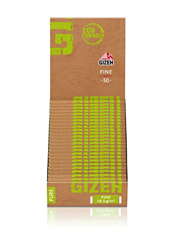 Gizeh Pure Fine 25 × 50 Blättchen/Zigarettenpapier - ECO Friendly!