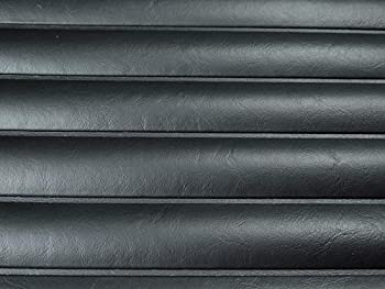Pleated Marine Vinyl Upholstery Fabric Black 54  Wide by The Yard Boat Auto