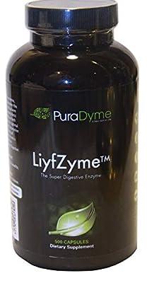 PuraDyme LiyfZyme Plant Based Digestive Enzyme Supplement - 500 Veggie Capsules. By Lou Corona