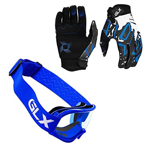 Product Image 1: GLX Unisex-Child GX623 DOT Kids Youth ATV Off-Road Dirt Bike Motocross Helmet Gear Combo Gloves Goggles
