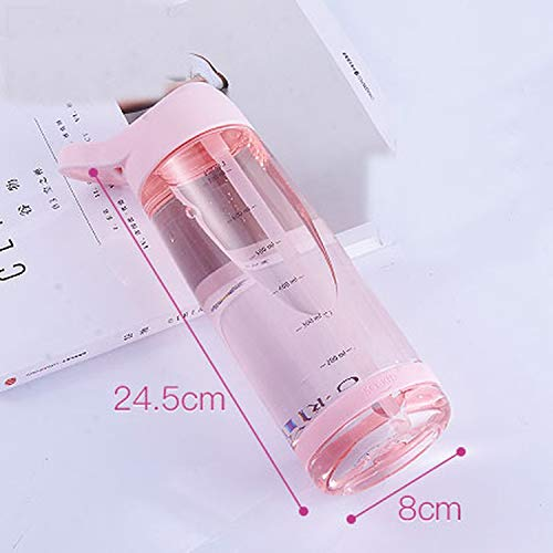 PENVEAT Outdoor-Wasserflasche mit Strohhalm, umweltfreundlicher Deckel, Wandern, Camping, Kunststoff, BPA, 1000 ml, Pink