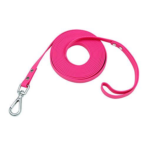 NIMBLE Wasserdichte Hundeleine, langlebig, reflektierend, ideal für kleine, mittelgroße und große Hunde, 1,5 m, 3 m, 4,9 m, 9 m, 15,2 m, lange Leine für den Außenbereich (15,2 m, rosa)