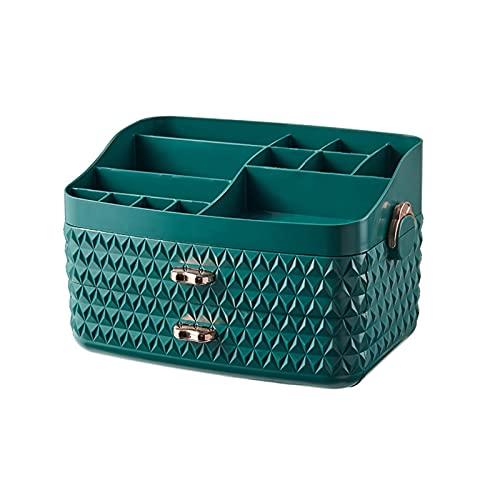 Caja De Almacenamiento Cosmético Caja De Almacenamiento Cosmético Productos para El Cuidado De La Piel del Hogar Caja De Cosmética Dormitorio Destivo De Tocador Rack(Color:Verde)
