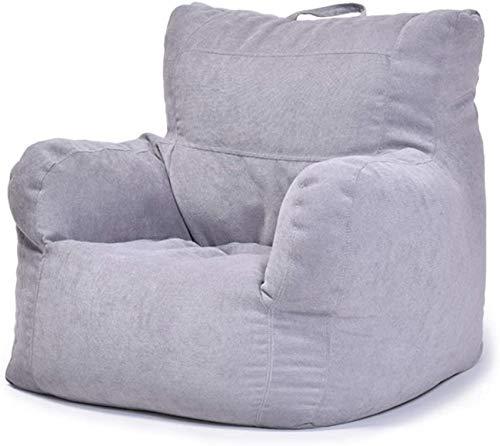 xcxc Sitzsack-Aufbewahrungsstuhlbezug, abbaubarer Baumwolltuch-Sitzsack-Aufbewahrungsstuhlbezug mit Griff Kommt mit Füllbeutel und PVC-Verpackungsbeutel, grau, 100x100x65CM